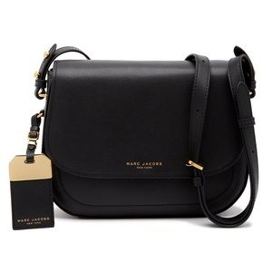 Marc Jacobs Rider Black Leather Crossbody Bag